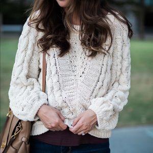 Express Sweaters - Express cream sweater